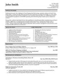 Resume Templates Engineering power engineer resume template premium resume sles