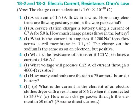 50 ma of current flow through a 10 kω resistor how much power is dissipated i a current of 1 60 a flows in a wire how many chegg