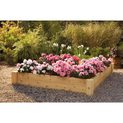 Rustic Natural Cedar Furniture Company 174 Raised Bed Planter Raised Bed Planter