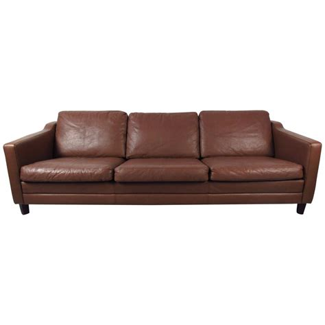 mid century modern leather sofa