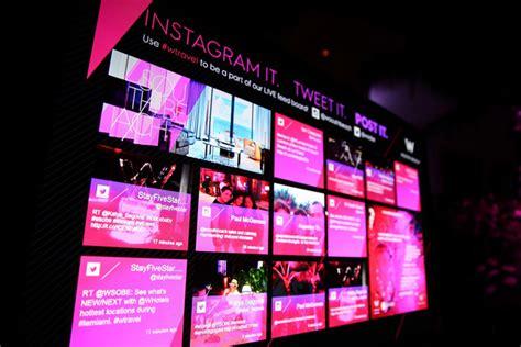 digital wall digital wall showcases three social media feeds at