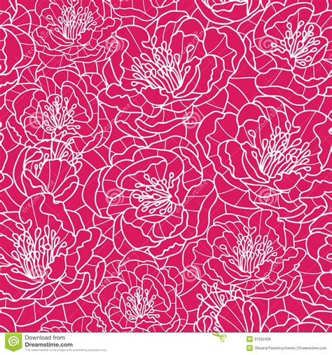 flowers seamless pattern element vector background vibrant red lace flowers seamless pattern stock vector