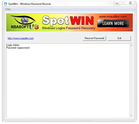 windows password reset deluxe spotwin password recovery screenshot x 64 bit download