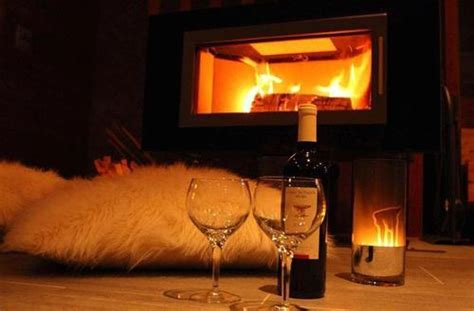 By The Fireplace by Winter Evening By The Fireplace By Daga Whi