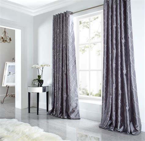 very co uk curtains midtown eyelet lined curtains silver free uk delivery