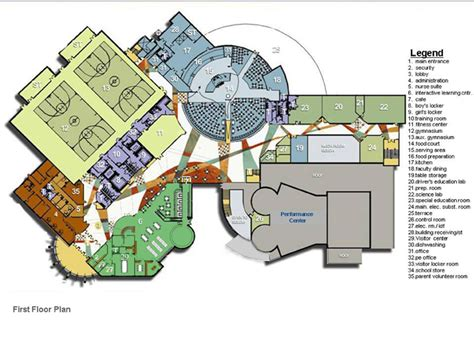 school floor plans first floor plan daycare school pinterest architecture