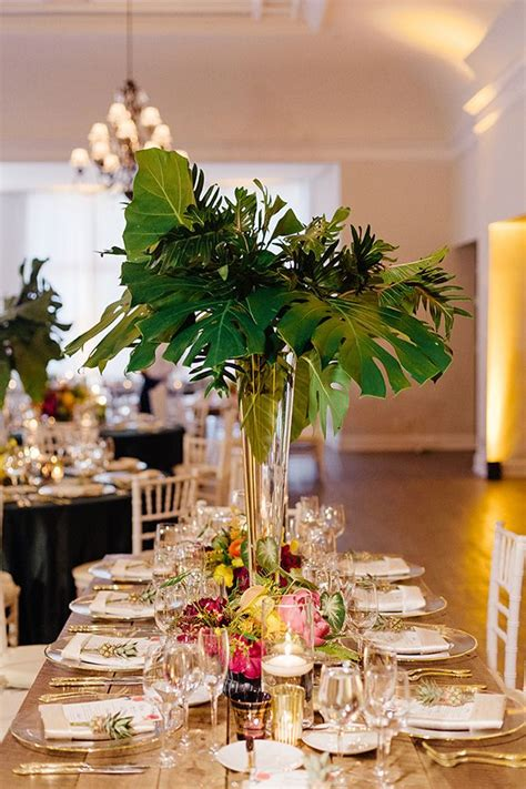 tropical chic miami wedding  elaine palladino receptions wedding   beauty