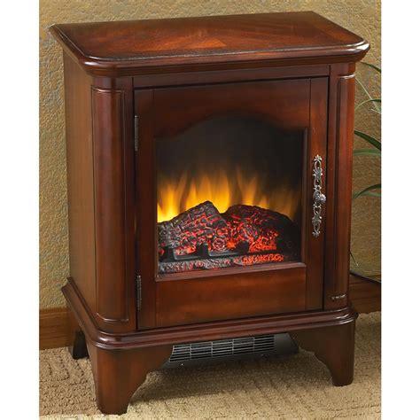 cherry finish electric fireplace heater 181959