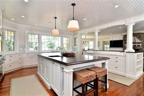 cape cod shingle style traditional kitchen boston