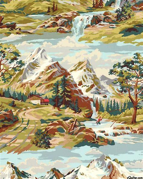 Mountain Landscape Quilt Fabric 17 Best Images About Cotton Novelty Prints On