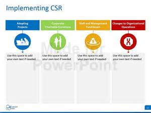 corporate roles and responsibilities template corporate social responsibility csr editable powerpoint