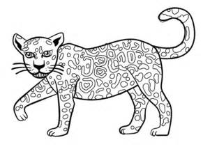 realistic wild animal jaguar coloring pages womanmate