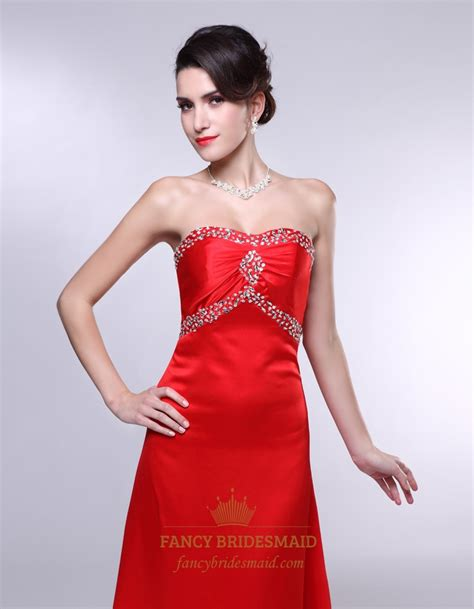 red strapless bridesmaid dresses long empire waist bridesmaid dresses red satin long bridesmaid dresses empire waist a line
