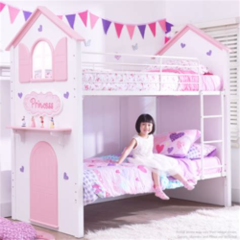 Princess Bunk Bed For Sale Princess Bunk Beds Princess Loft Bed White Finish In Pink And White For Only 448 Medium Size