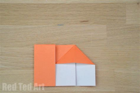 Folded Paper House - tale crafts 3 pigs ted s