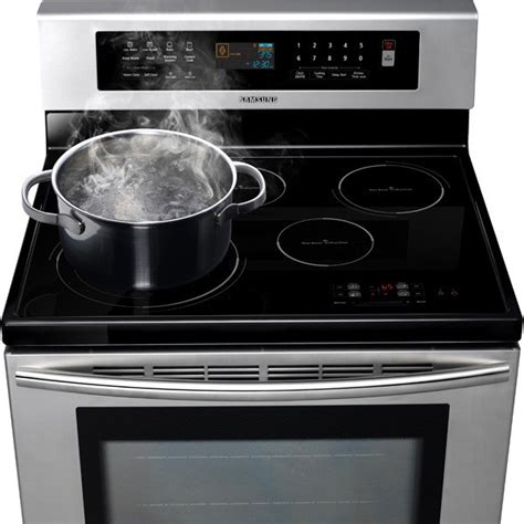 samsung ftqnwgx  freestanding induction range   cooktop elements  convection oven