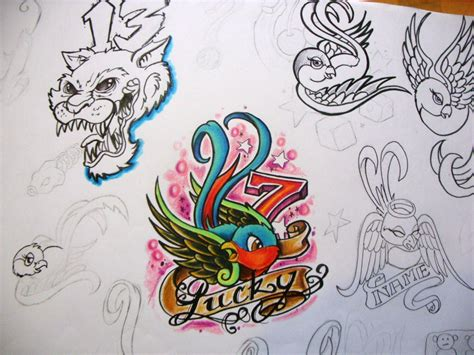 luck tattoo designs 28 lucky 7 designs image gallery lucky 7