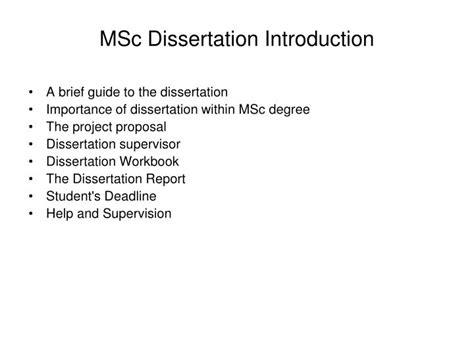 msc dissertation ppt msc dissertation introduction powerpoint