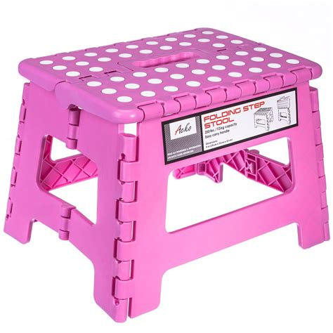 Jeronic Folding Step Stool by Folding Step Stool 9 Inch Height Premium