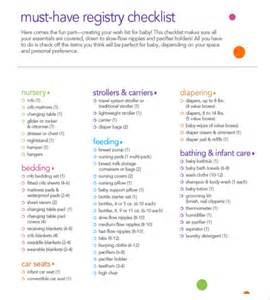 What Does It To Register For A Baby Shower baby registry checklist templates 12 free word excel