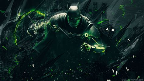 green wallpaper video games caped crusader full hd wallpaper and background
