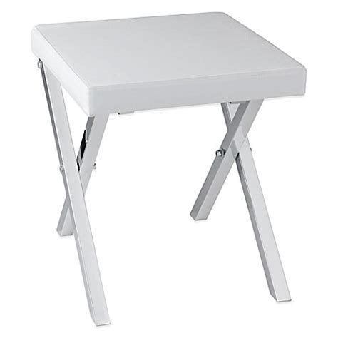 foldable vanity stool buy taymor 174 folding vanity stool from bed bath beyond