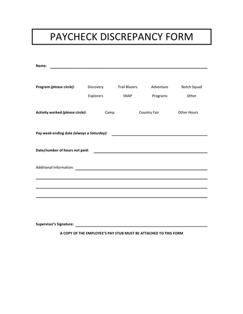 Payroll Deduction Form Download Free Documents For Pdf Word And Excel Payroll Discrepancy Form Template