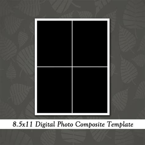 8 5x11 Photo Template Photography Template By Loveurstyledesigns 8 5 X 11 Photoshop Template