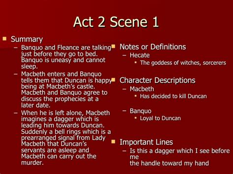 themes in macbeth act 2 macbeth act 2 notes teacher