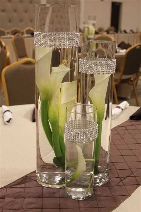Reception Table Calla Lilies And Vases On Pinterest Calla Table Centerpieces