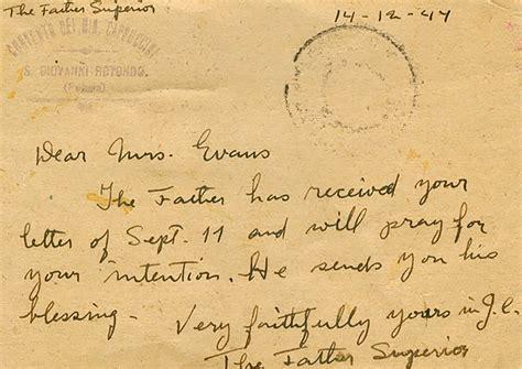 lettere padre pio letters of padre pio docoments ojazlink