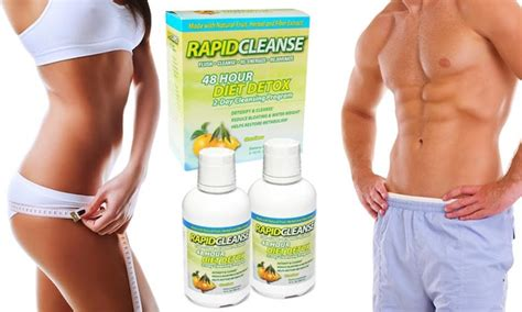 48 Hours Rapid Detox by Rapid Cleanse 48 Hour Detox Kit Groupon Goods