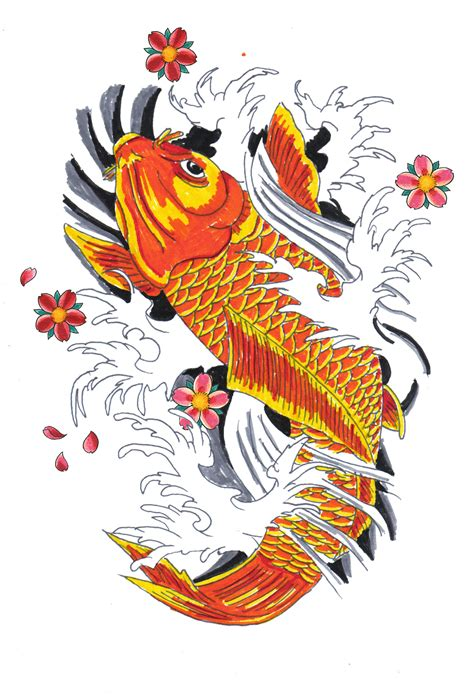 colorful koi fish tattoo designs japanese koi fish