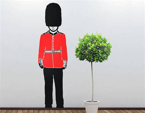 soldier wall stickers s guard soldier vinyl wall sticker contemporary