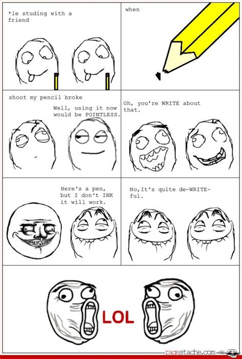 Rage Comic Memes - pencil time other jul 28 2012 rage comics