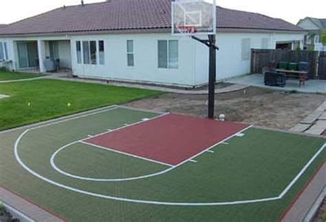 pictures of outside basketball courts backyard