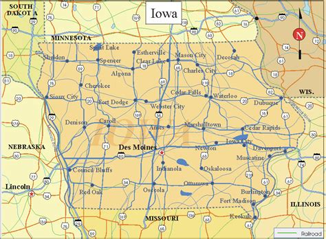 printable map iowa state of iowa county map printable pictures to pin on