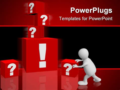 powerpoint templates for question and answer everal red cubes with question marks around a single big