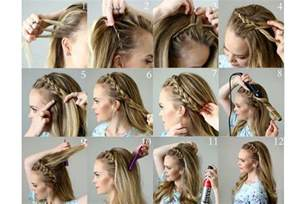 how to do braid hairstyle stepby images step by step pictures of ideas to braid your own hairs for