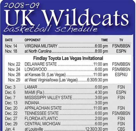 uk basketball schedule preseason the press online printable uk basketball schedule
