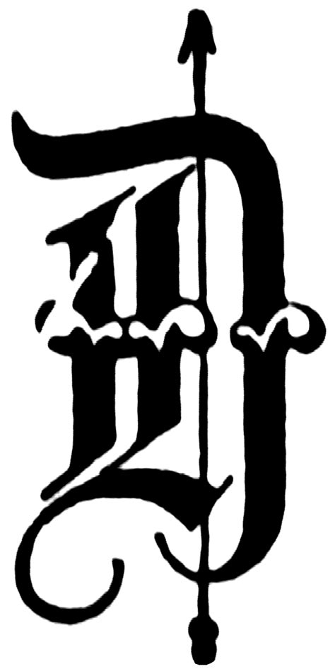 D, Old English fancy text | ClipArt ETC