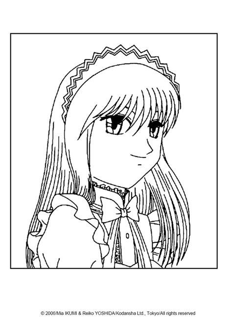 zakuro fujiwara portrait coloring pages hellokids com