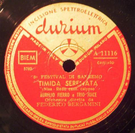 un mazzolin di fiori testo festival di sanremo 1958 i cantanti le canzoni i testi