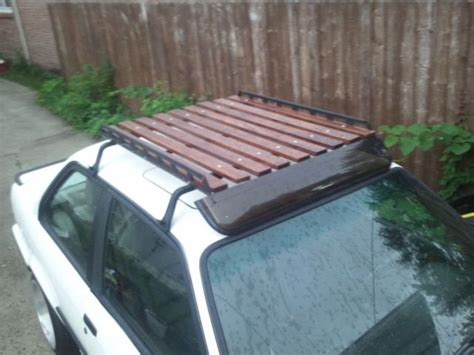 Diy Roof Rack by Wood Wooden Roof Rack Car Diy Home Made Wooden
