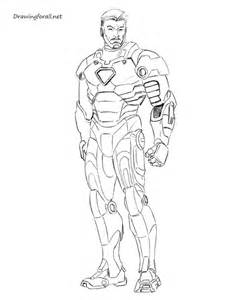 ironman drawing how to draw iron step by step drawingforall net