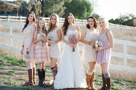 country style wedding photos outdoor wedding country western footwear pastel