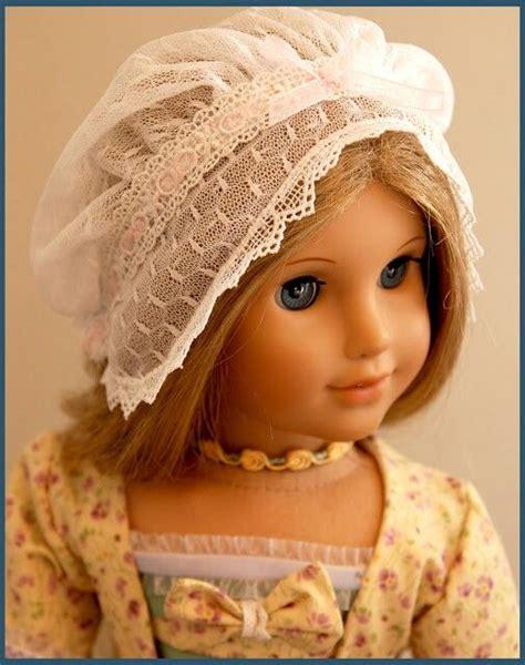 design american doll lace mob cap for american girl doll elizabeth by dollhouse