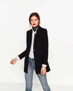 Zara Crepe Ver 2 levita cuello mao levita zara y abrigos