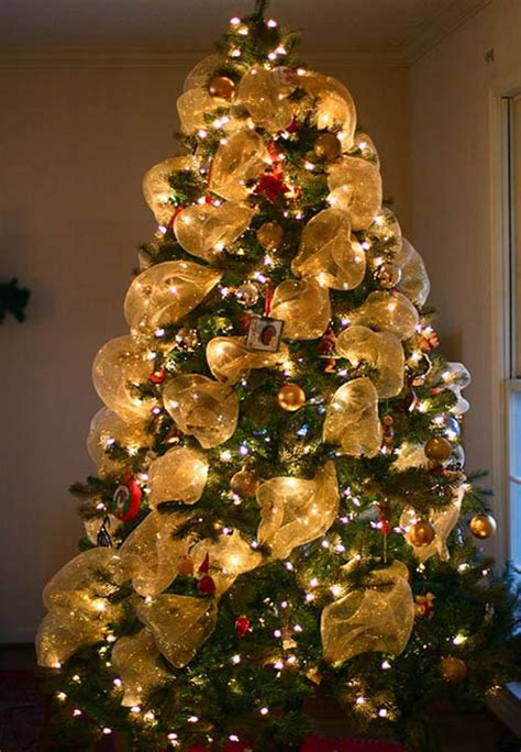 how to decorate with wide ribbon on xmas trees tree ideas for 2018 celebration all about