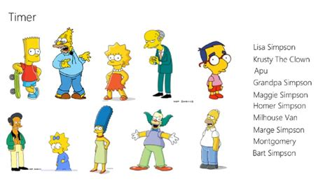 simpsons name image gallery simpsons names
